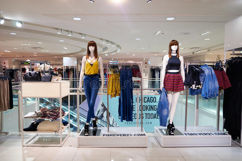 Forever 21 store royalty free stock photo