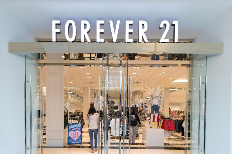Forever 21 store front. Philadelphia, Pennsylvania, May 19 2018: Forever 21 store front stock photo