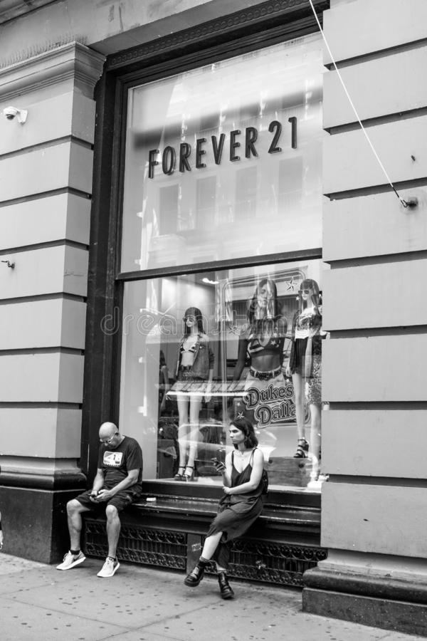 Forever 21 store in SoHo royalty free stock image