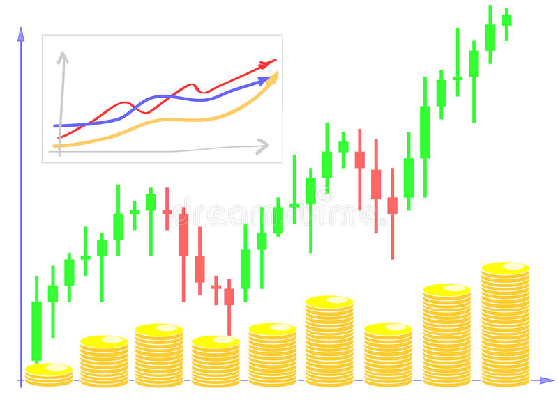 Download Forex chart diagram stock vector. Image of background - 12907152