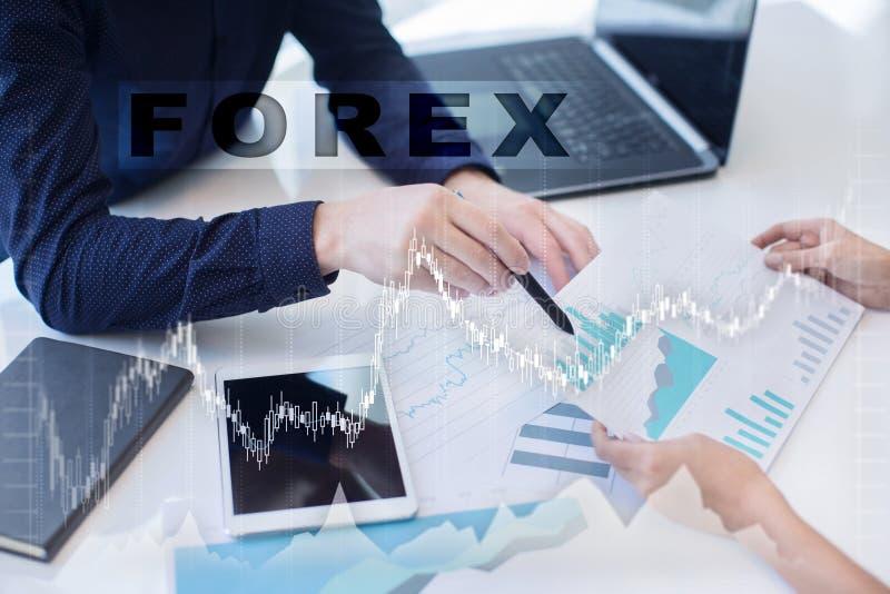 Forex die, Online investering handel drijven Zaken, Internet en technologieconcept royalty-vrije stock foto's