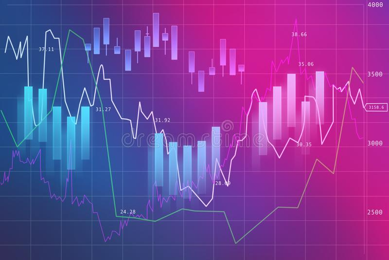 Forex Exchange in ultraviolet. Forex Exchange Schedule on Ultraviolet background gradient from pink to blue royalty free illustration