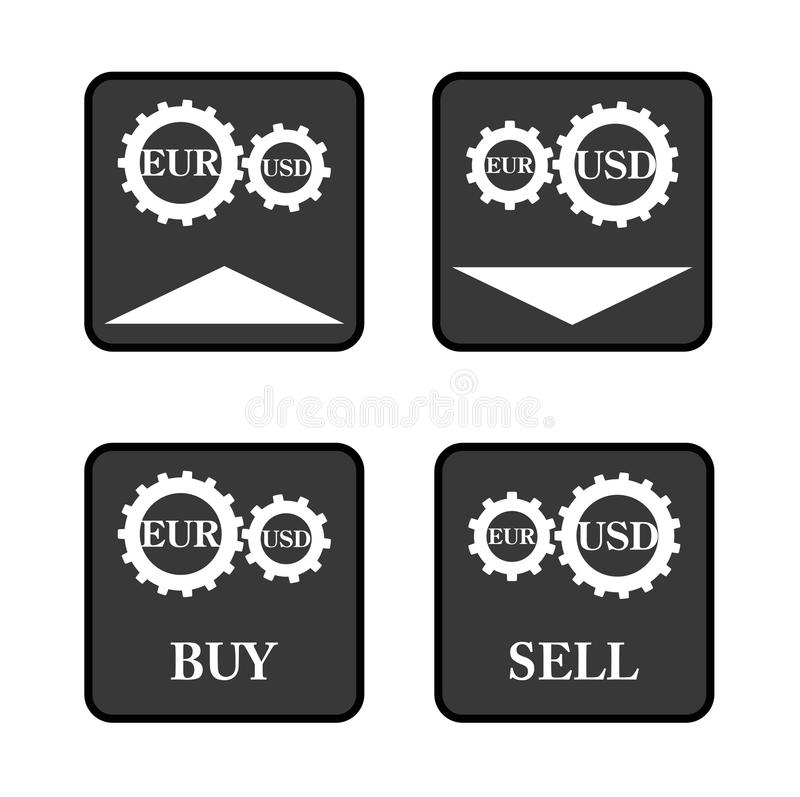Download Forex icons stock vector. Image of forex, button, dollar - 33268908