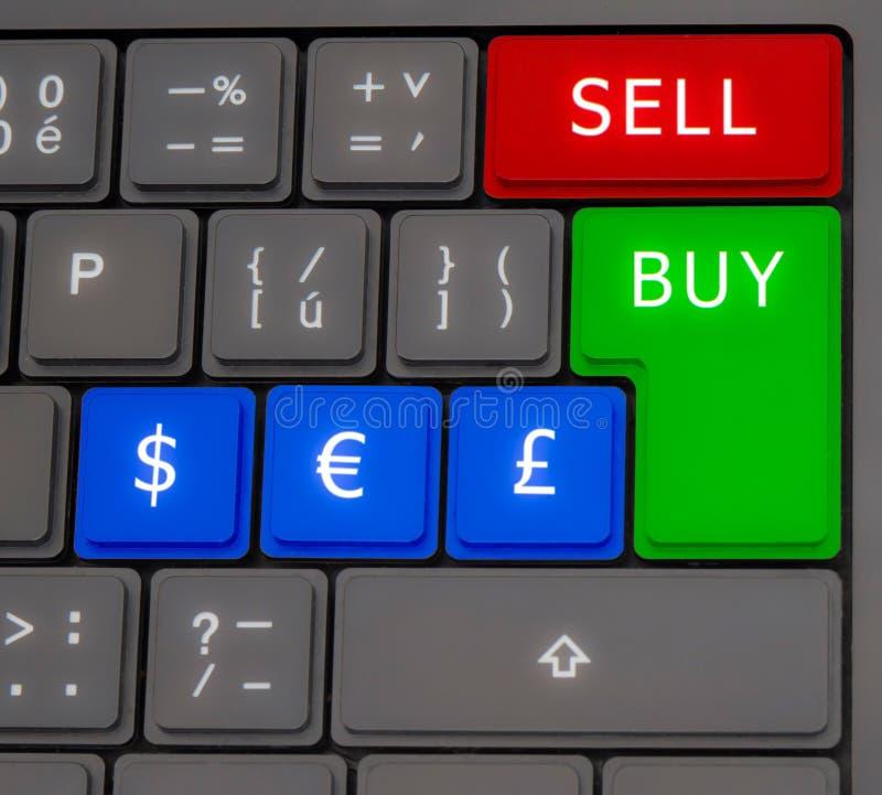 Forex keyboard royalty free stock photo
