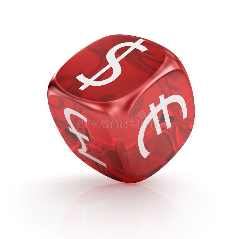 Forex la devise en rouge découpe illustration stock