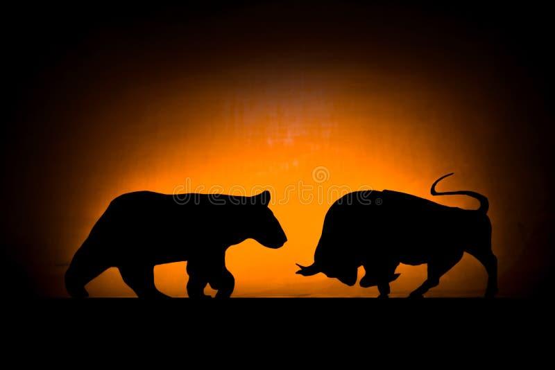 Forex: Orso e toro immagine stock libera da diritti