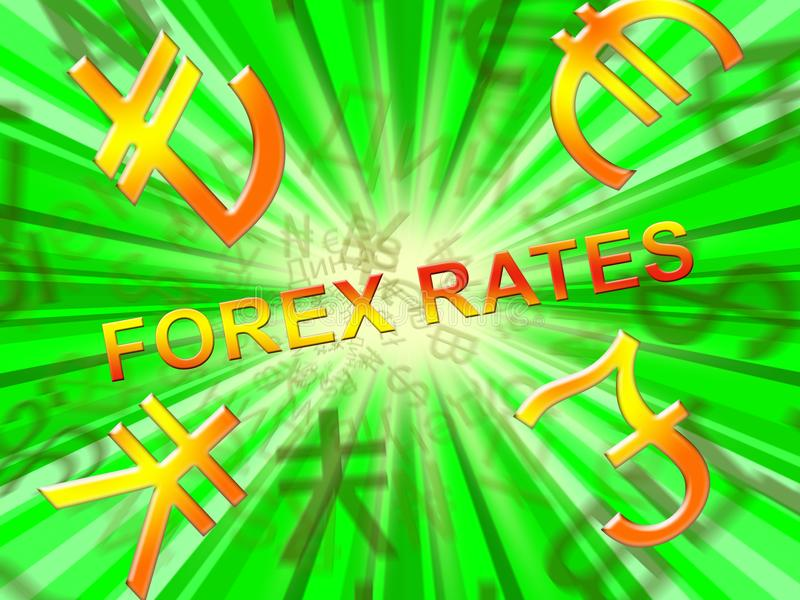 Forex Rates Indicates Foreign Exchange 3d Illustration Stock