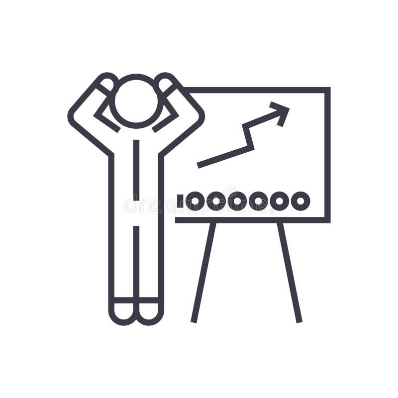 Forex som handlar den linjära symbolen, tecken, symbol, vektor på isolerad bakgrund vektor illustrationer