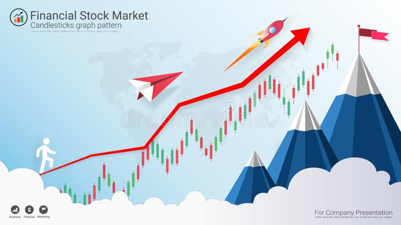 Forex stock market investment trading concept. Candlestick pattern with bullish and bearish is a style of financial chart, Suitable for describe price royalty free illustration