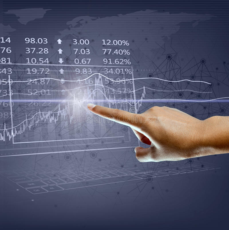 Forex trading concept. stock image