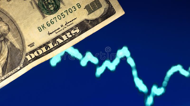 Forex.Trading.Crisis.Depreciation.Play on the stock exchange,currency market,share market,stock market.Graph analysis, market royalty free stock photos