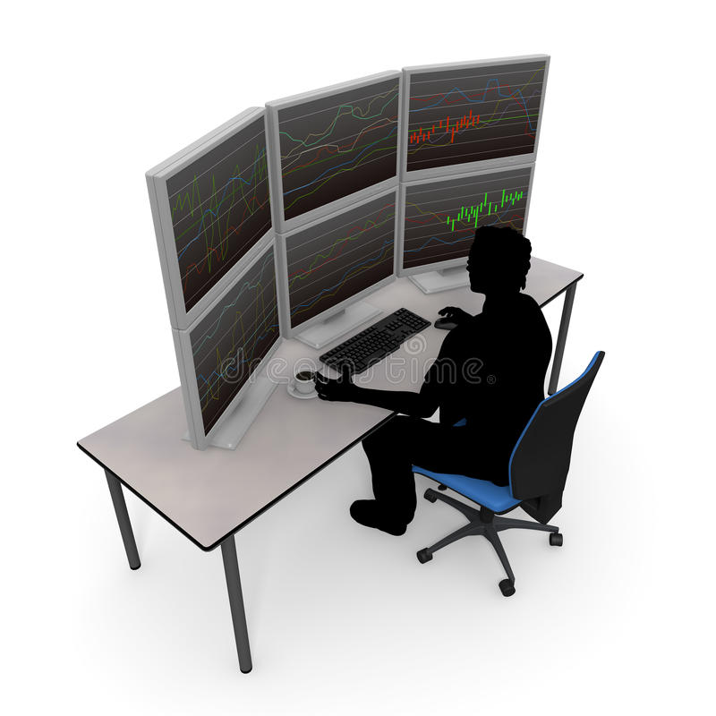 Forex trading / stock trading stock illustration