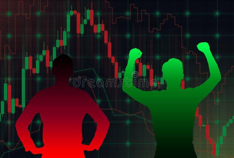 Forexdiagram stock illustrationer