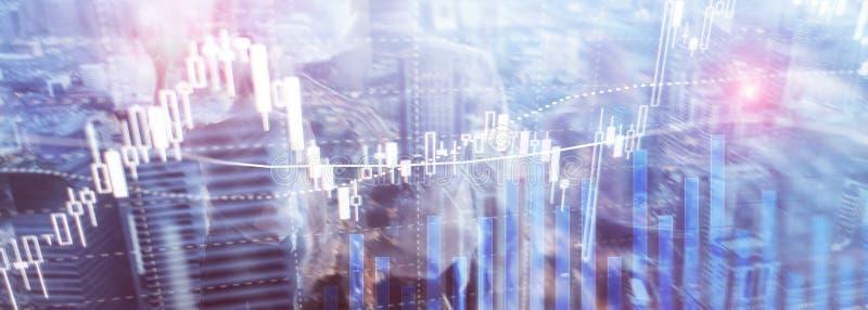 Forexhandel, finansmarknad, investeringbegrepp p? bakgrund f?r aff?rsmitt royaltyfri illustrationer