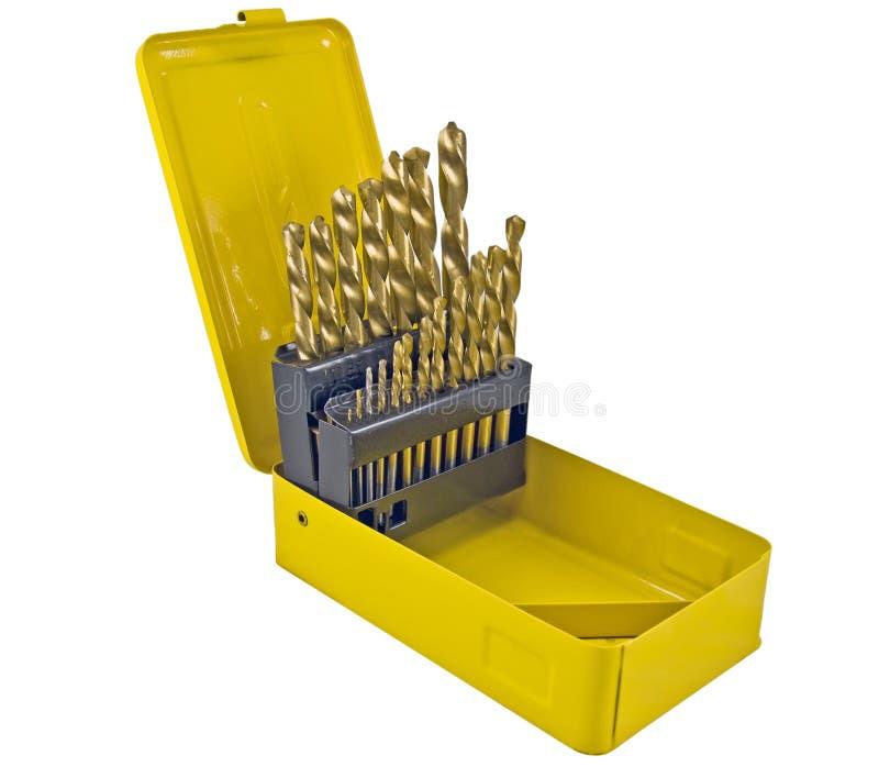 Forez dedans la boîte jaune image stock