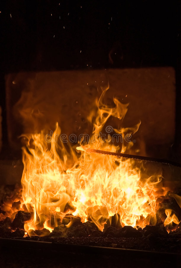 Forge fire stock photos