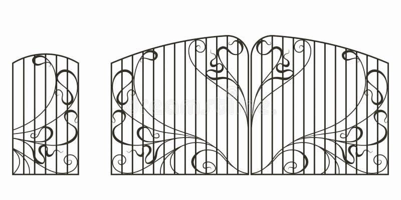 Forged brama, furta i ogrodzenie, royalty ilustracja