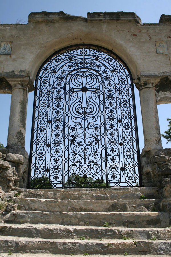 Download Forged gate stock image. Image of structure, antique, iron - 4232255