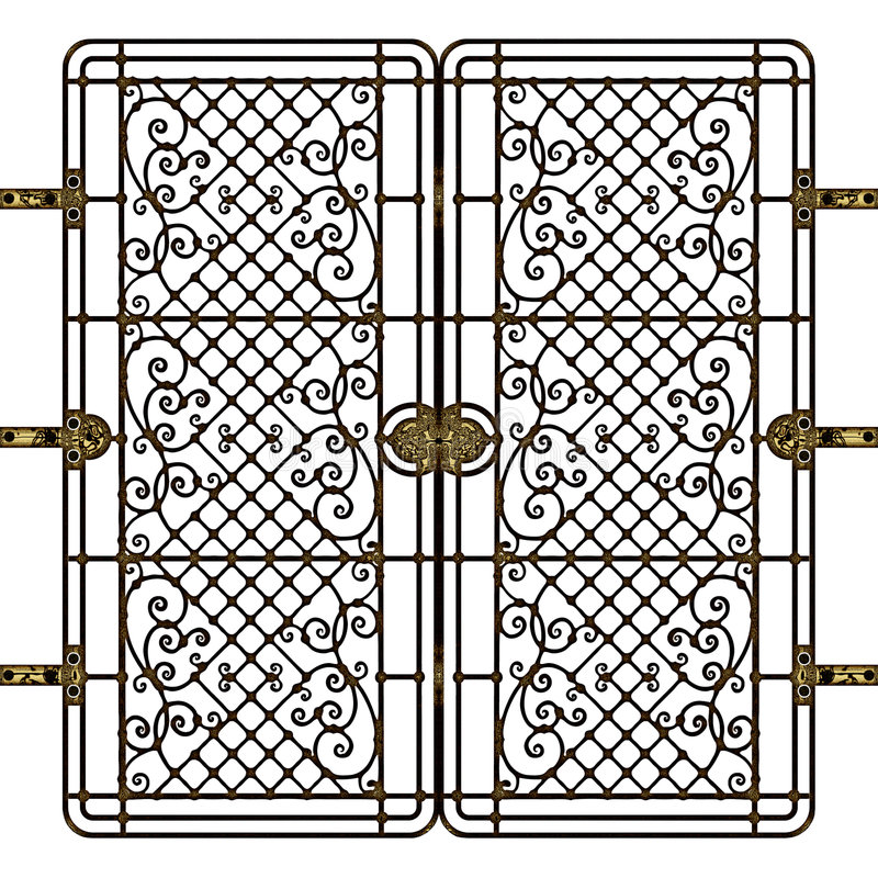 Download Forged gate stock illustration. Image of ornament, build - 8209943