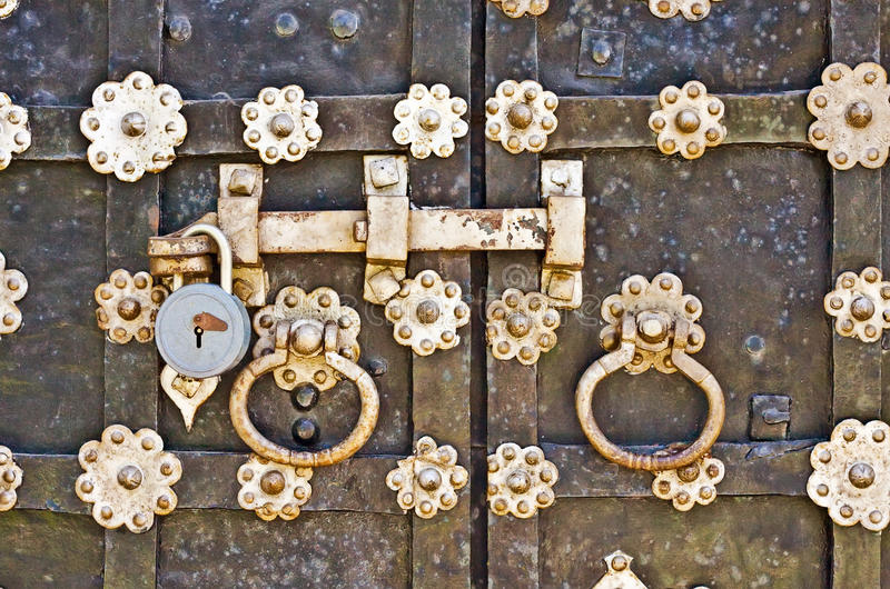 Download The forged gate closed stock image. Image of iron, city - 19576613
