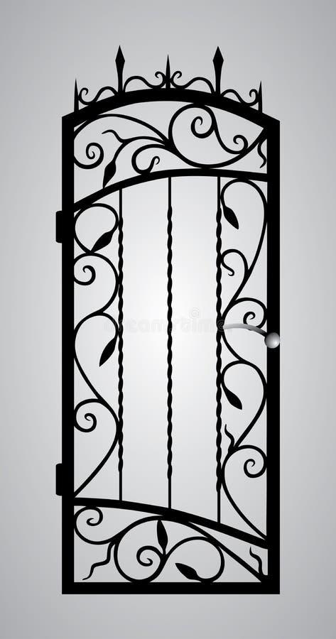 Download Forged gate door. stock vector. Illustration of design - 32473282
