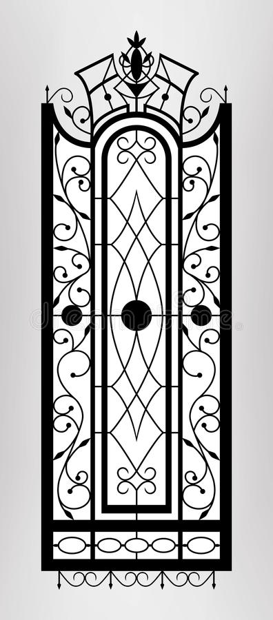 Forged gate door. Vector EPS10 stock illustration