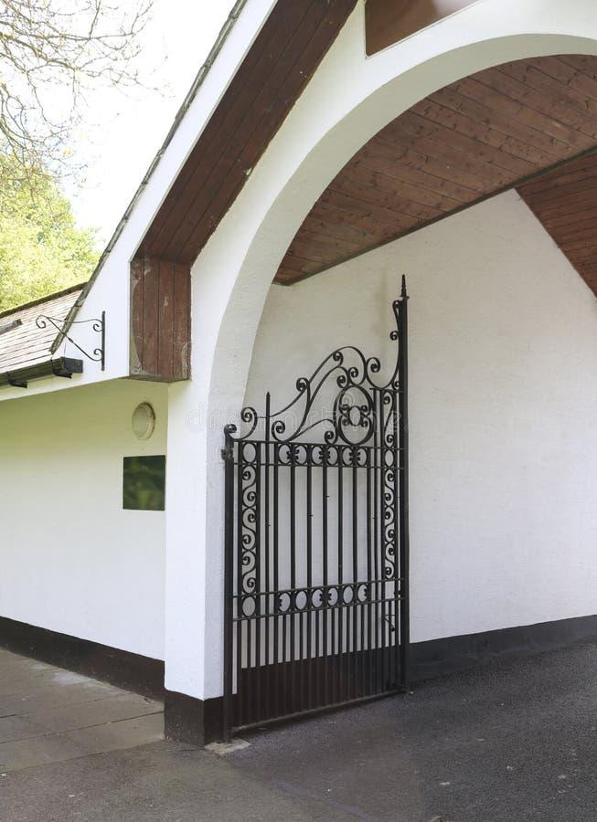 Forged iron gates. stock image