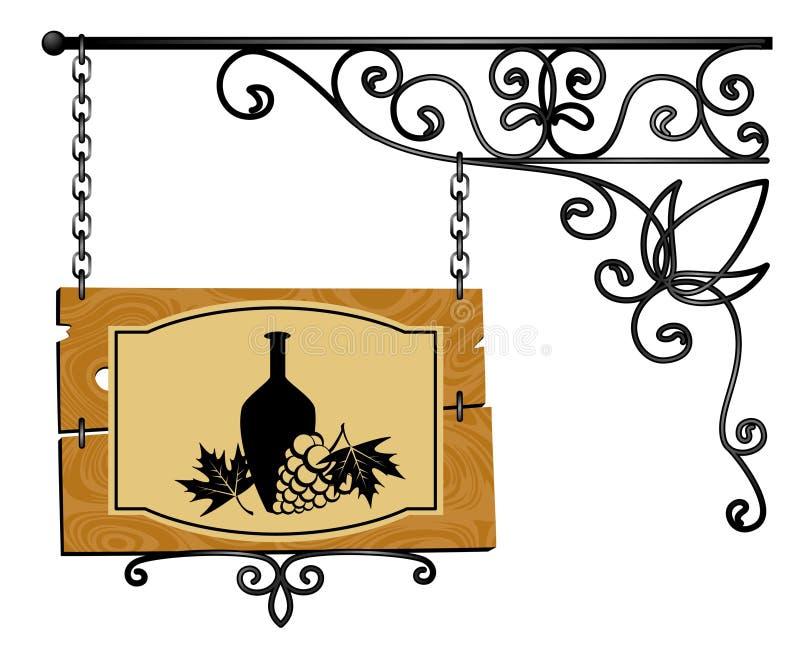 Forged signboard. Illustration for a design stock illustration
