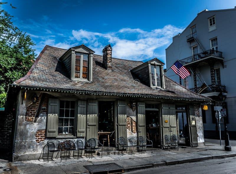 Forgeron Bar d'architecture de quartier français de la Nouvelle-Orléans photo libre de droits