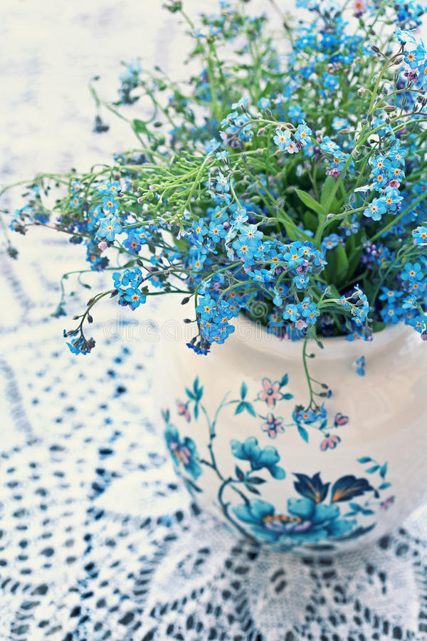 Download Forget-me-not flowers stock photo. Image of decoration - 28466474