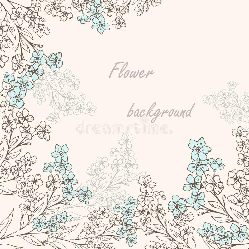 Download Forget-me-not pattern 2 stock vector. Image of birthday - 31257402