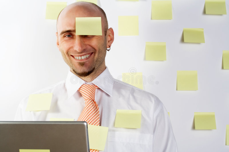 Forgetful Businessman royalty free stock image