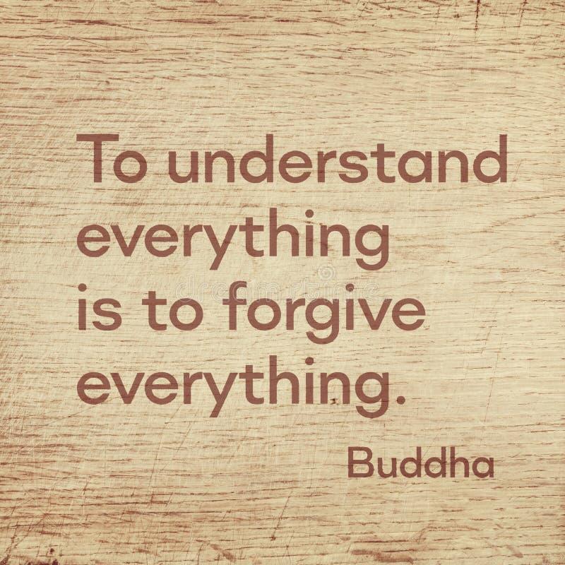 Forgive everything Buddha wood royalty free stock images