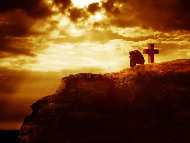 Forgiveness at the cross royalty free stock image