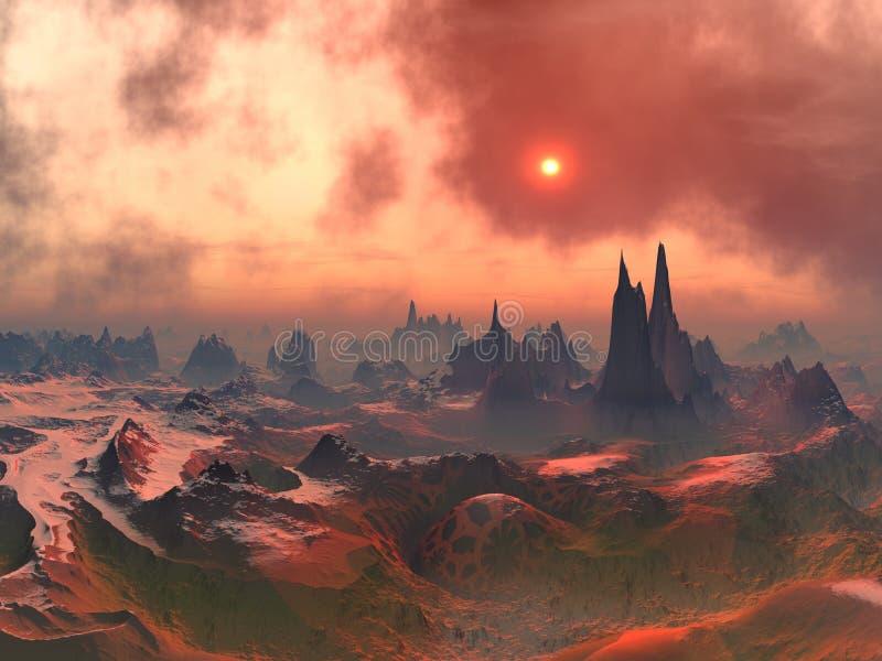 Forgotten Alien World stock image