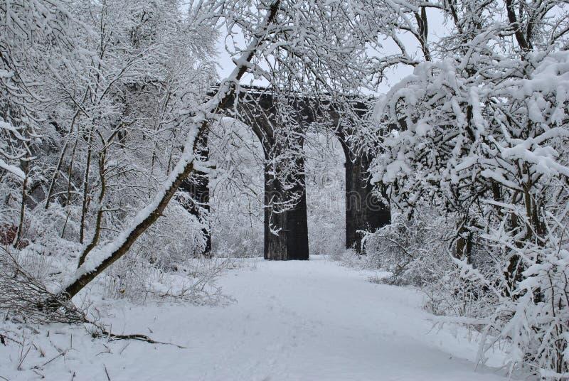 Forgotten bridge in Pontsarn royalty free stock photos