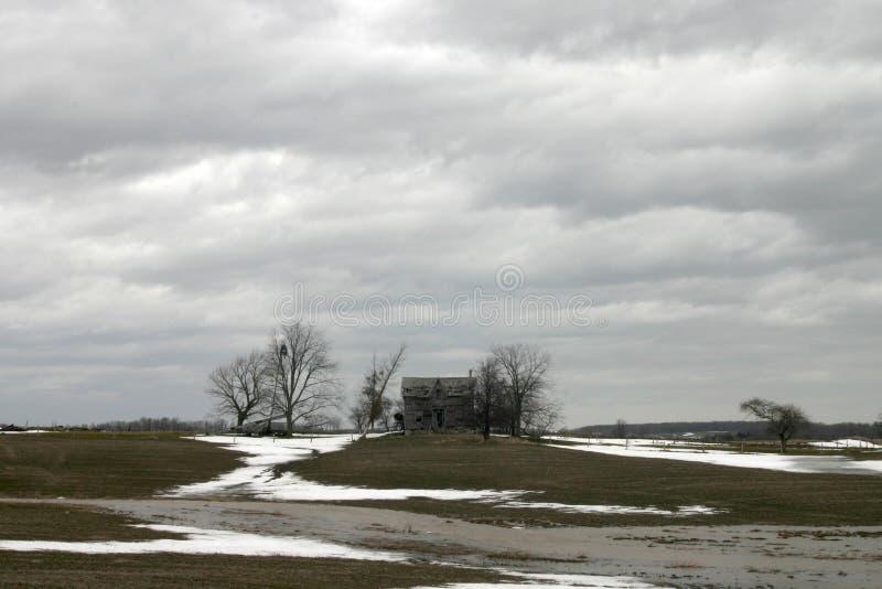 Forgotten home stock image