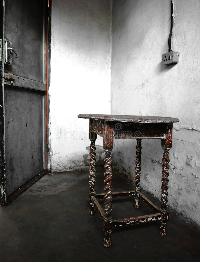 Forgotten table stock photo