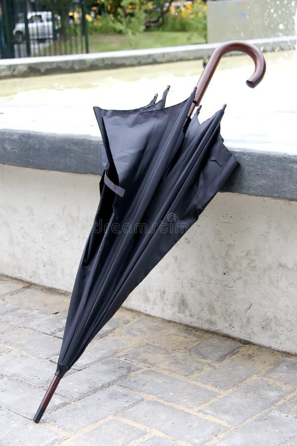 Forgotten umbrella royalty free stock image