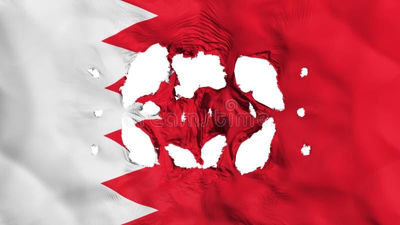 Fori in bandiera del Bahrain illustrazione vettoriale