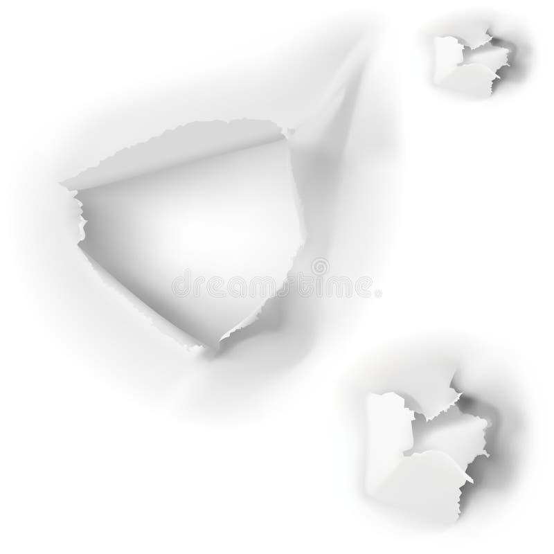 Fori in documento illustrazione vettoriale