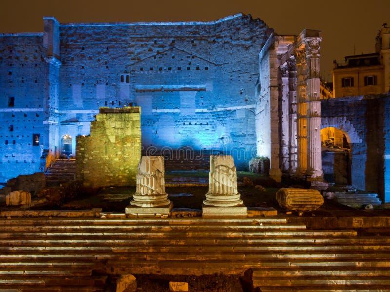 Fori Imperiali en Roma imagenes de archivo
