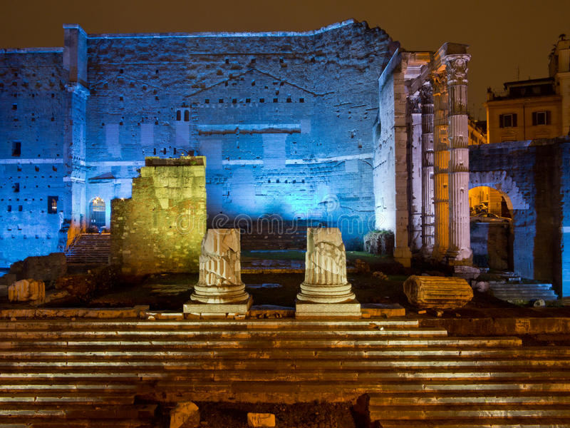 Fori Imperiali in Rome stock images