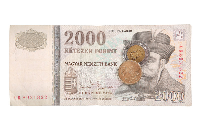 forints венгерские стоковое изображение rf
