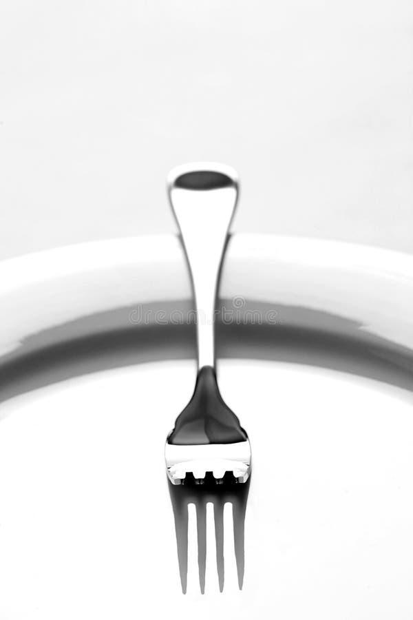 Fork aislada foto de archivo