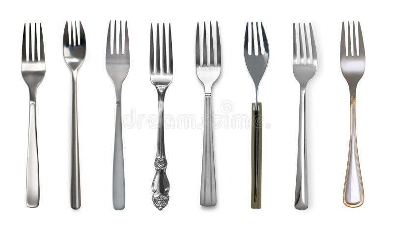 Fork aislada en blanco imagen de archivo libre de regalías