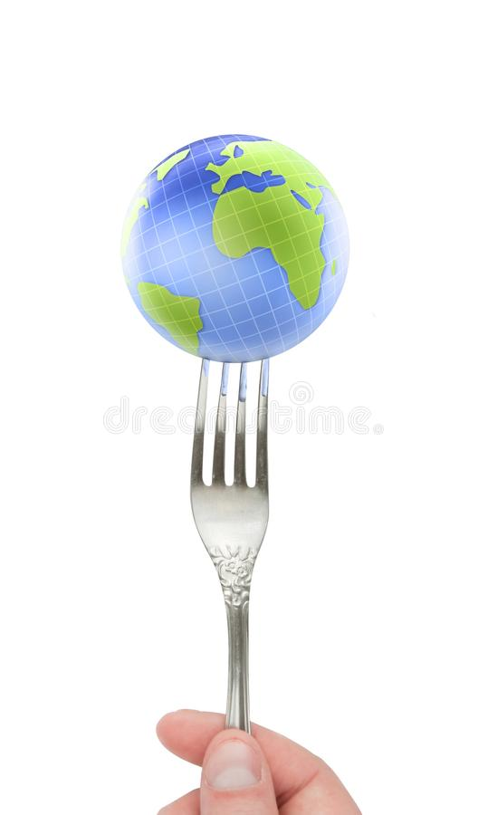 Free Fork And Earth Royalty Free Stock Image - 14512816
