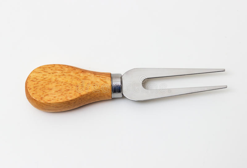 Fork for cheese isolated. On white background royalty free stock images
