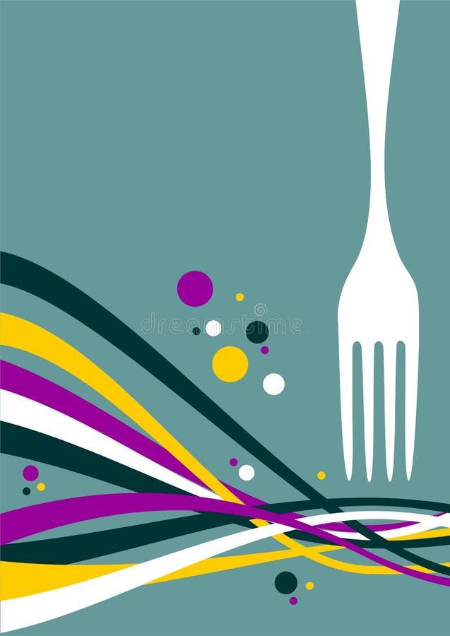 Fork con el fondo multicolor de las ondas libre illustration