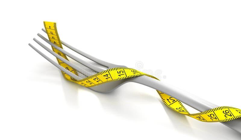 Fork con la cinta de medición libre illustration